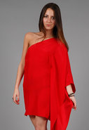 One Sleeve Kimono Dress in Many Colors