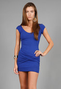 AM to PM Bandage Dress in Cobalt