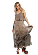 Fiona Overlay Top Maxi Dress in Olive