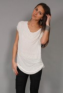 Linear Beaded Top in Blanc de Blanc