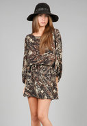 Batwing Dress in Forest Python
