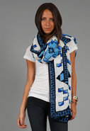 Aztec Scarf in Blue Multi