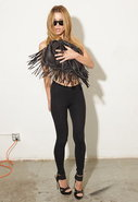 Cut n' Paste Jasmine Fringe Bag in Black