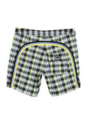 17 Inch Low Rise Boardshort in Black Plaid