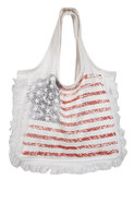 Flag Tote in White