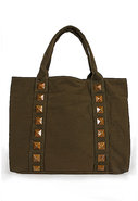Canvas Tote with Studs