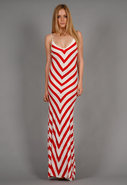 Bias Striped Long Dress in 2 colors