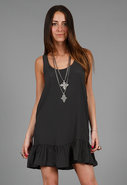 Tie Back Dress in Black