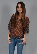 Cape Cool Top in Orange Floral
