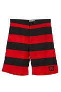 Hainan Slammer Stripe Boardshort in Red & Black