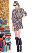 Dawson Striped Tunic in Brown Multi