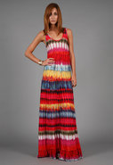 Emma Long Dress in Multi Drip
