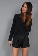 Daphne Leather Short