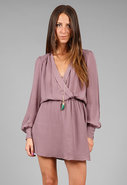 Wrap Dress in Mauve