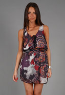 Falling For Georgette Dress in Eggplant