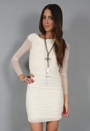 Shirred Sleeve Dress