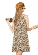 Dina Beaded Blouson Dress in Leopard Print