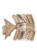 Antiqued Arrow Cuff in Yellow Gold