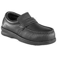 Pucker Moc Casual Slipon Shoes (Black) - Men&#39;s Sho