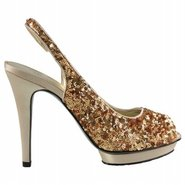 Gleem Shoes (Gold Sequin) - Women's Shoes - 7.0 M