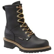 8  WP Plain Toe LoggerST Boots (Black) - Men's Boo