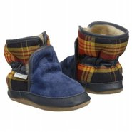 Cozy Ankle Bootie Inf/To Shoes (Navy Plaid) - Kids