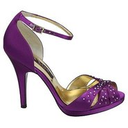 Elizia Shoes (Purple Satin) - Women's Shoes - 8.5