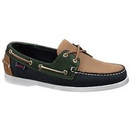 Spinnaker Shoes (Navy/Tan/Pine) - Men's Shoes - 6.