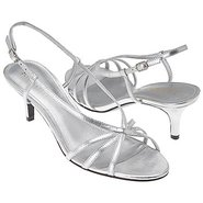 Tyra Shoes (Silver Leather) - Women&#39;s Wedding Shoe