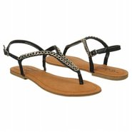 Golden Coin Sandals (Black) - Women's Sandals - 6.