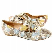Austria Shoes (Brown Multi Floral) - Women's Shoes