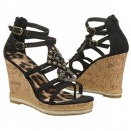 Bastian Sandals (Black Faux Suede) - Women&#39;s Sanda