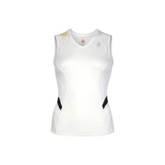 Women's Run Sleeveless Accessories (White/Black)-
