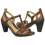 Sculptured T-Strap Shoes (Mahogany) - Women's Shoe