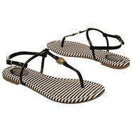 Josslyn Thong Sandals (Black Patent) - Women's San