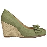 Well Wisher Shoes (Green Fabric) - Women&#39;s Shoes -