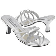 Erin Shoes (Silver Glit/Meta Bow) - Women's Weddin