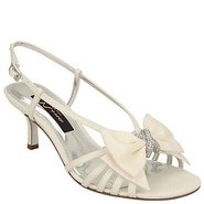 Georgia Shoes (Ivory Satin) - Women's Shoes - 8.0