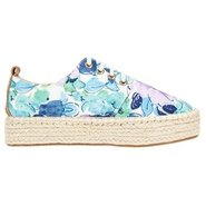 Grateful Shoes (Blue Floral) - Women's Shoes - 7.0