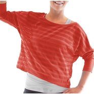 Women's Flow Dolman Stripe T Accessories (Coral Ro