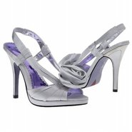 Getting Hitched Shoes (Silver Satin) - Women's Wed
