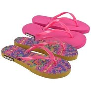Muk Luks Flat Flip Flo Sandals (Hot Pink) - Women'