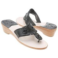 Navajo Mid Wedge Sandals (Black) - Women's Sandals