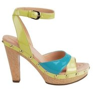 Madalen Shoes (Mellow Yellow/Aqua) - Women's Shoes