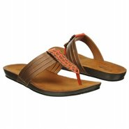 Lynx Clasp Sandals (Bronze/Red Leather) - Women's