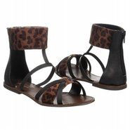 Wind Up Sandals (Black/Leopard) - Women's Sandals