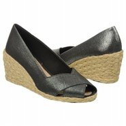 Cecilia Sandals (Black Metallic Linen) - Women's S