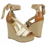 Las Rosas Wedge Sandals (Ecru/Tan Multi) - Women's