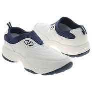 Wash & Wear Slip-On Shoes (White/Navy) - Men's Sho