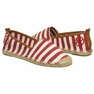 Meg Slip On Shoes (Red/White Stripe) - Women&#39;s Sho